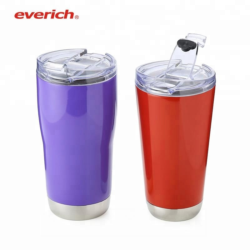 Double Wall Stainless Steel Tumbler 16oz coffee cup with Straw