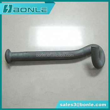 Hot dip galvanized pig tail bolt hook