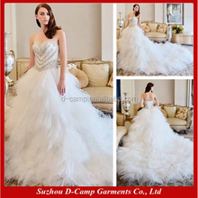 WD096 China custom made long train alibaba wedding dress 2017