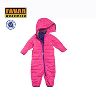 kids coverall hot pink winter coverall for kids cotton coverall