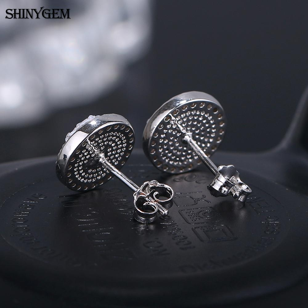 10mm round mirco pave zircon copper bijoux fashion accessories korea piercing custom druzy stud earrings for women girls