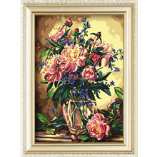 Flower vase painting designs diy abstract oil painting on canvas 40*50cm
