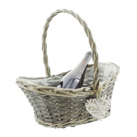 China craft supplier wholesale wicker wine baskets,oval wicker basket with handles