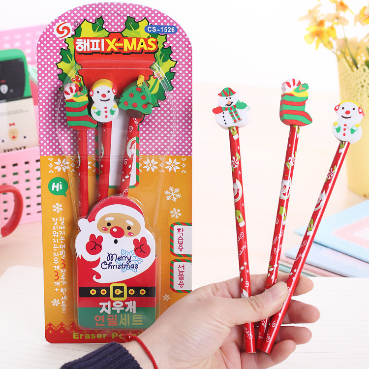 Cute Wooden Cartoon Animal Topper Pencil