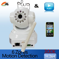 Quick zoom wifi wireless viewerframe mode ip camera with AP mode