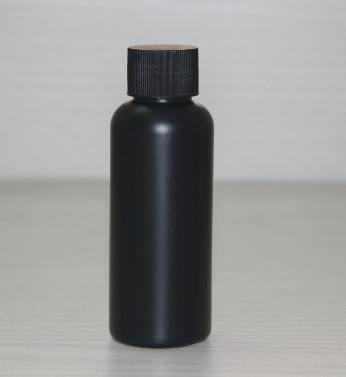 empty 75ml matte pe black plastic bottles