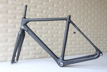 FM105-D carbon cyclocross frame disc brakes,DI2 and mechanical derailleur compatible cyclocross bike frame