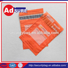 Pet Security Bag Sealing Tape Material/High Quality Plastic Security Courier Bag/Tamper Evident Security Bag With Security Tape