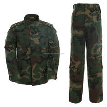 Custom Woodland Camouflage Cotton Polyester Ripstop Outdoor Hunting Military Uniform Acu