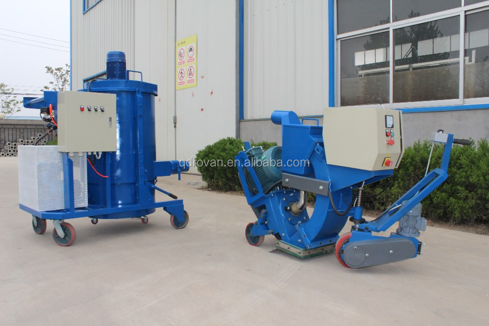 Movable Road Marker Removing Shot Blasting Machine, Airport Runway Line Removing Equipment