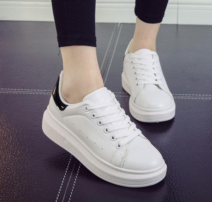 zm10281a wholesale 2016 new women white sneaker shoes casual ladies shoes