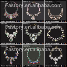 Fashion Show Brilliant Fashion Jewelry Accessories Wholesale Sale indian statement necklace For Woman