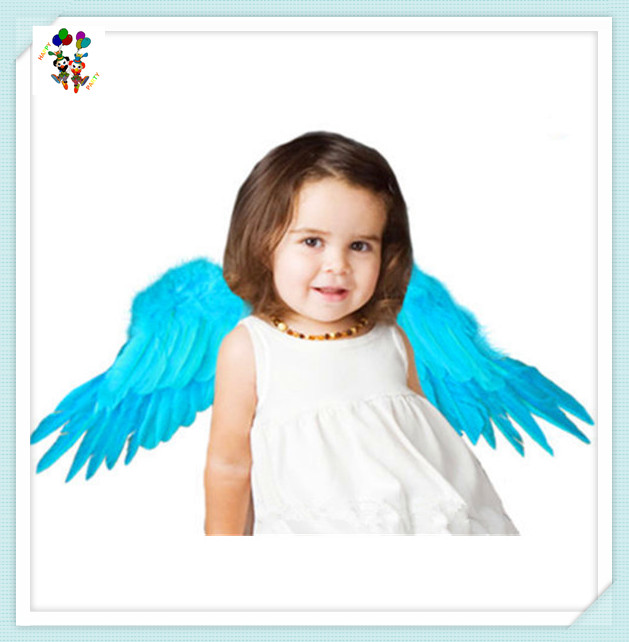 Photo Prop Childrens Angel Party Costume Blue Feather Wings HPC-2939