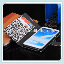 High quality new product hot selling leopard wallet slot leather phone case for samsung note3