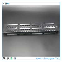 network patch panel krone 48 port cat6a,ethernet patch panel cat6a with shutter