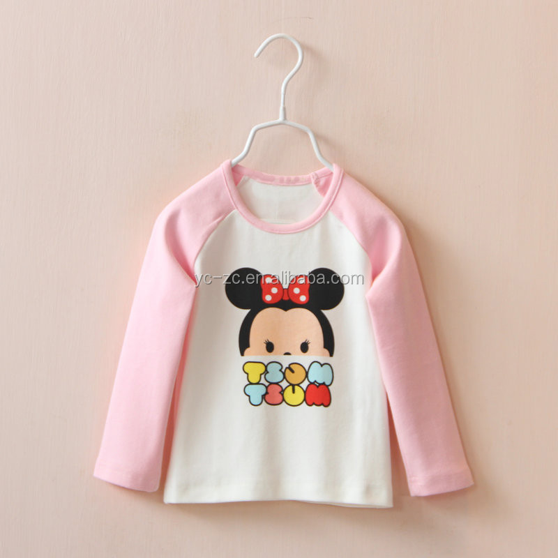 2015 baby fashion paint T shirt kids tops kids clothes thailand smocked children clothing wholesale