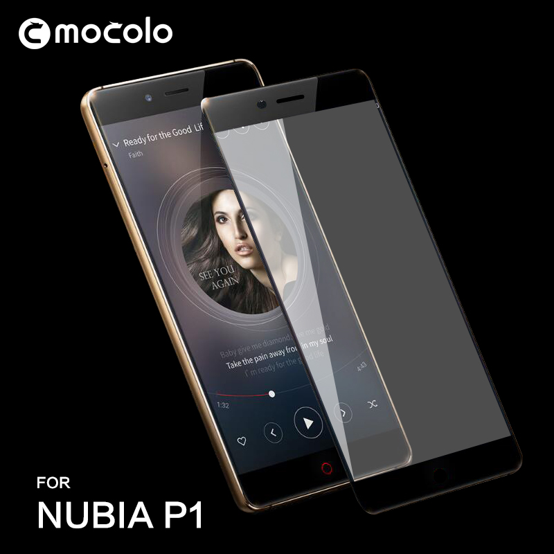High Quality!! 0.26mm 9H Anti Shock 2.5D Full Cover Tempered Glass for Nubia P1 Screen Protective Film for Mobile Phone