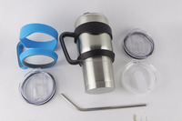Products Made In China Handle Fits 30 oz Stainless Steel Tumbler With Stainless Steel Straw And Cleaning Crush Set