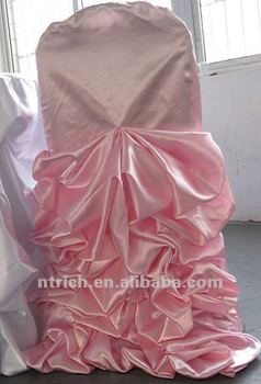 charming satin ruffled chair cover and table cloth for wedding,new style chair cover and table cloth