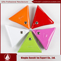 trilateral shaped PVC colorful coin bag