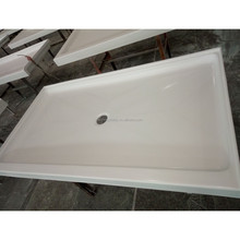 "60"" * 34"" * 3"" Textured Center Drain Cultured Marble Shower Pan for US Hotel Bathroom"