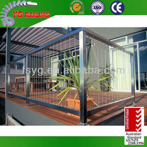 2015 nouvelle balustrades en acier inoxydable terrasse. Black Bedroom Furniture Sets. Home Design Ideas