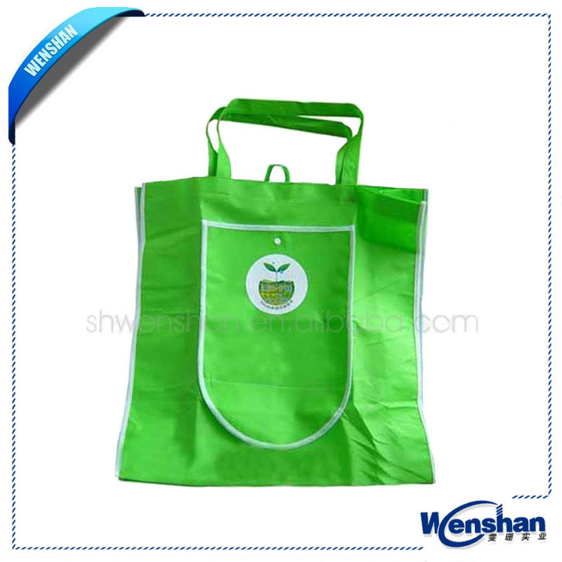 High quality foldable non woven shopping bag with zip pocket