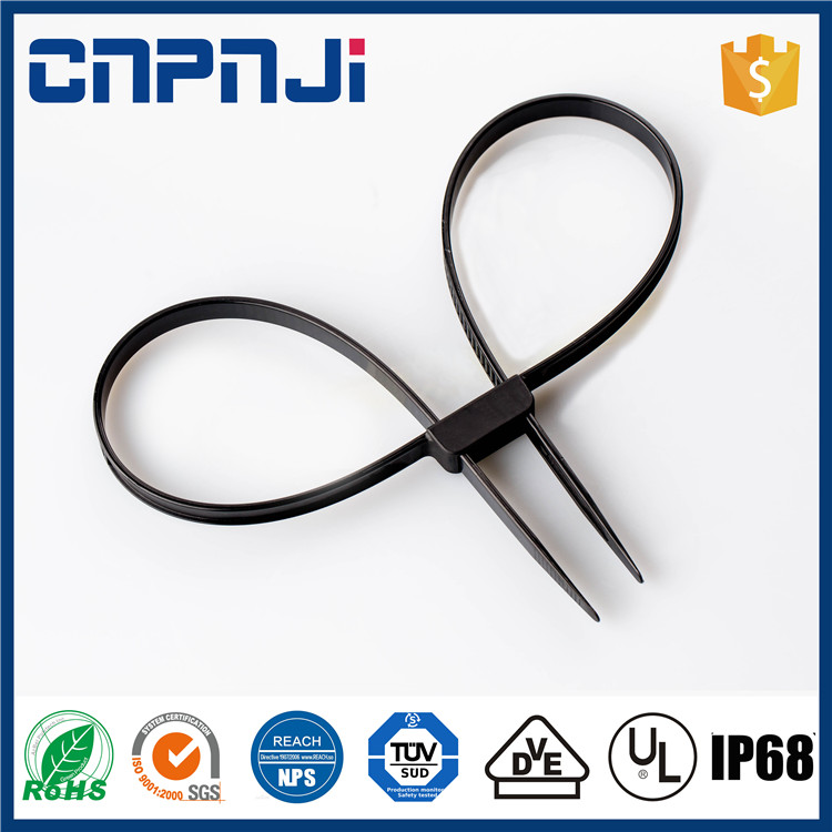 Trade assurance best selling printed velcro cable ties