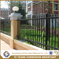 Gates and Steel Palisade fence design used guardrail for sale