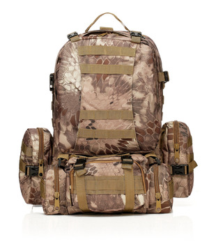hot sale waterproof 600D oxford outdoor military backpack tactical overland molle camo hunting camping backpack 55L CH016