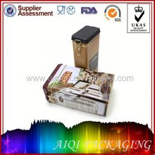 2014 newest hot selling whiskey tin container