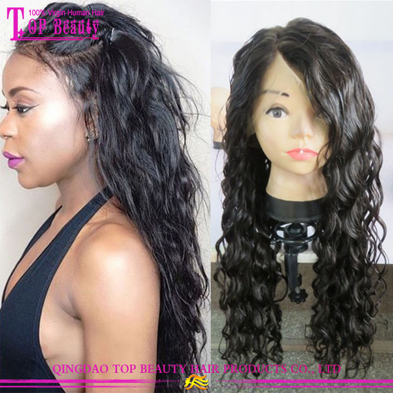 Factory price virgin indian natural 100% human hair wigs permanent human hair extensions wigs