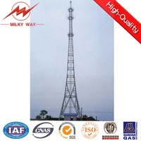 four legged lattice angle steel microwave communication tower made in china