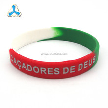Wholesale cheap charity segmented silicone bracelet printable wristbands