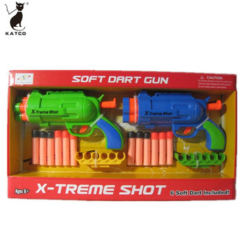 Kids Play Outdoors Soft Projectile Pistol Toys Boys Funny Soft Bullet Gun.