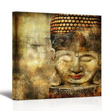 Peaceful Buddha Canvas Prints Pictures on Canvas Abstract Painting for Bedroom Framed Wall Art Stretched Ready to Hang on Wall
