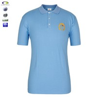 China Custom Polo t shirt With Company Embroidered Logo