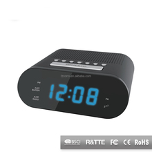 Radio Controlled Digital Snooze ABS Frozen Table Desktop ROHS&CE Touch ScreenThermometer Radio Alarm led Clock