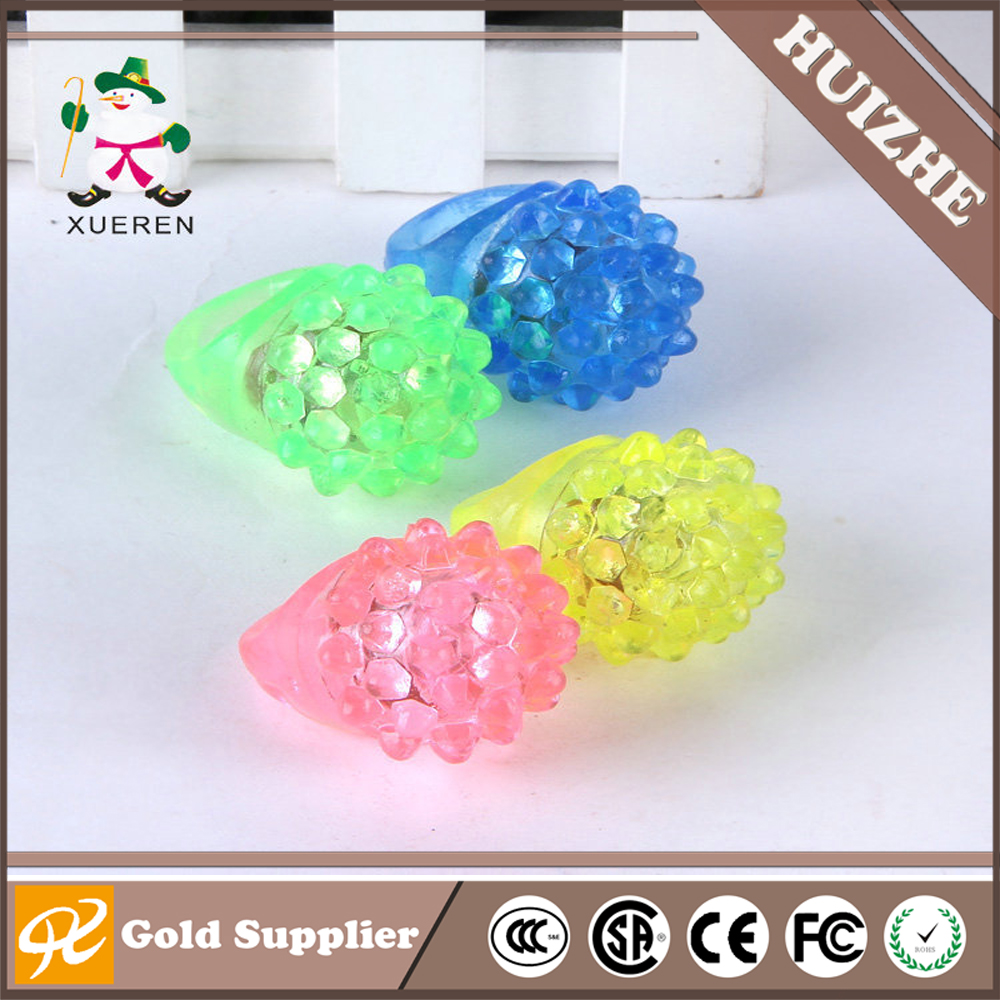 Flash Rings Strawberry Flashing Ring Rubber LED Glow Ring