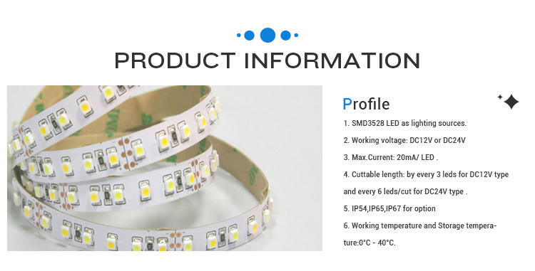 INNOVALIGHT 2014 HOT SELL 3528 120LED/M HIGH BRIGHTNESS WATERPROOF LED STRIP LIGHT