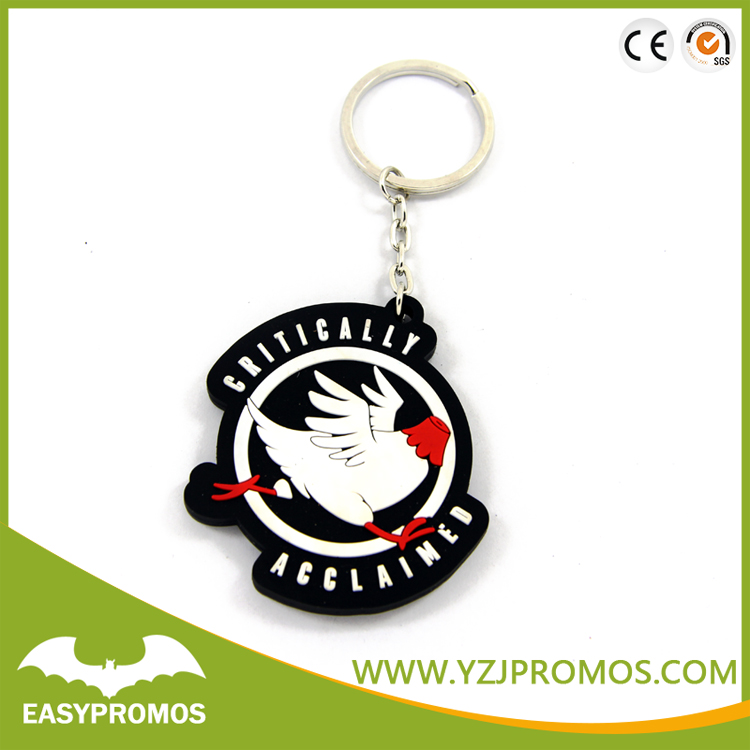 Customize Silicone Promotional PVC Soft Rubber Keychain