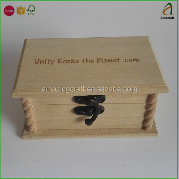 Artistical Wooden Rock Stone Display Boxes with Laser Engraved Logo