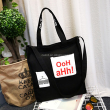 Wholesale Shoulder Style Fashion Design Plain Canvas Women Tote Bag