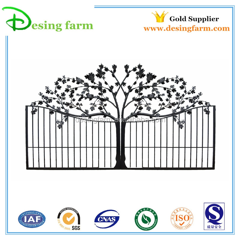 2015 Powder coating wrought iron gate door prices designs