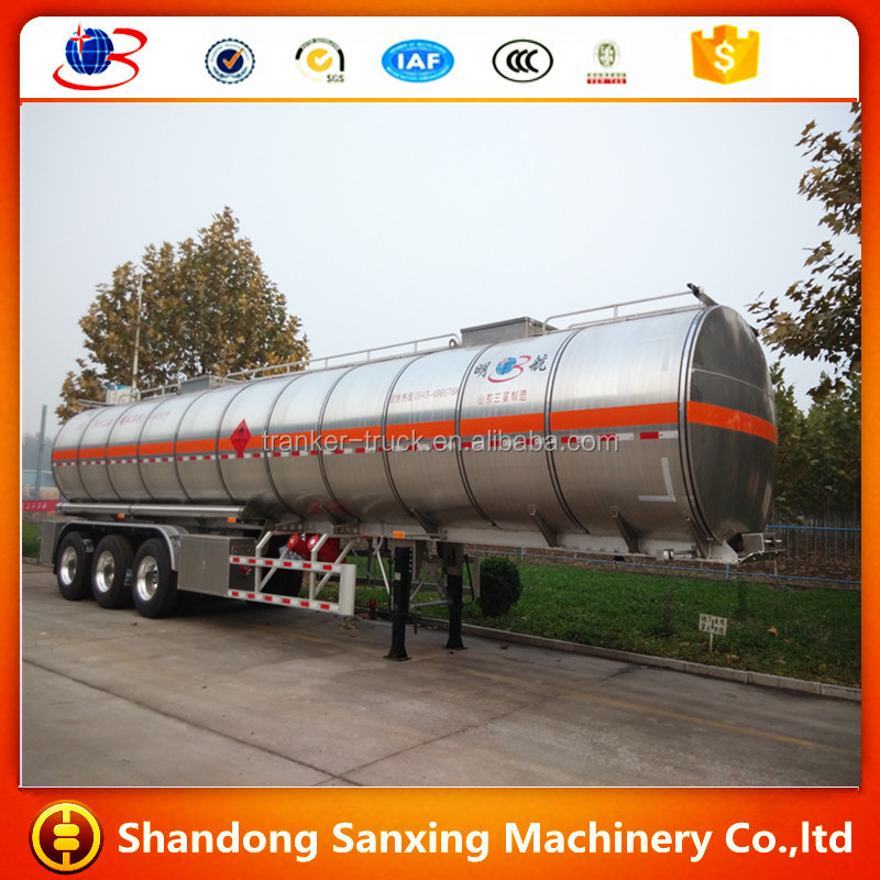 China manufacturer factory used oil fuel trailer petroleum tankers for sale