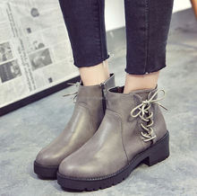 2018 autumn and winter the new European and American fashion boots Martin boots women round boots