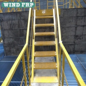 FRP GRP stair grating and handrail