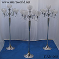 2018 silver 5 arms crystal candelabra wedding decoration for party&hotel decoration wedding centerpiece (CAN-068)