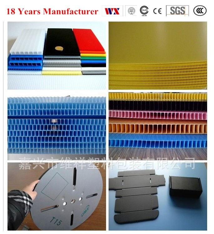 Eco- friendly polypropylene Plastic Hollow Board