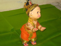 Decorated Krishna Doll